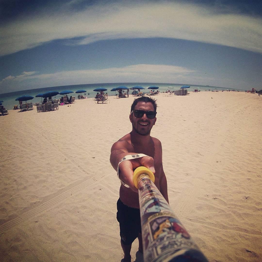 @enanopostovoy desde #MiamiBeach con su #ZephyrPole !!