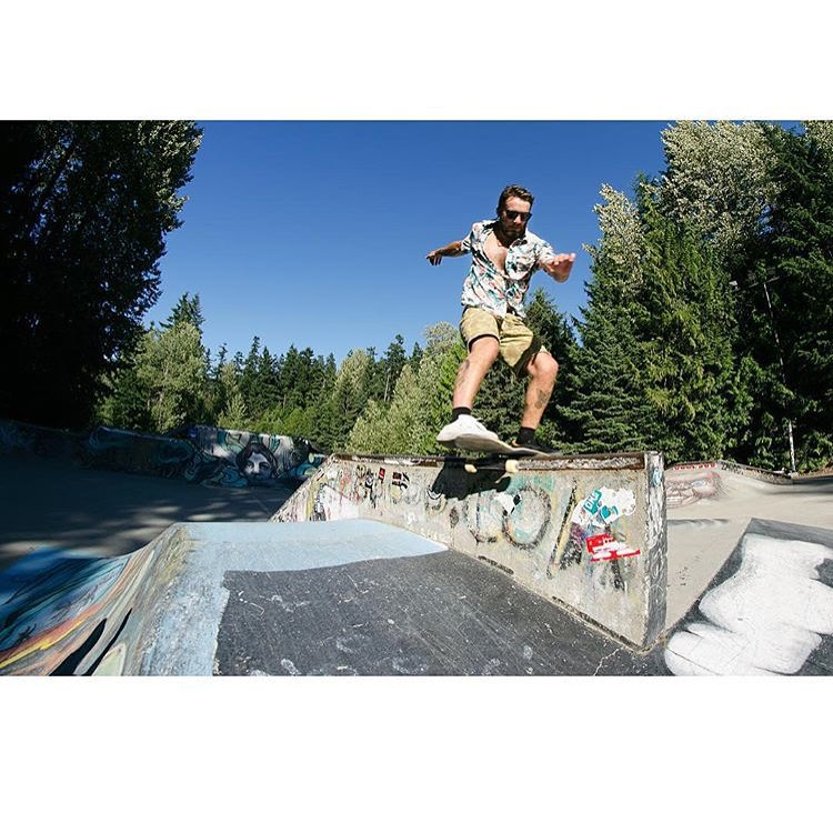 #AV7Renegade @harryg getting busy in the Whistler skatepark this summer.