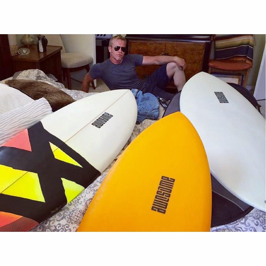 three peanutters one nutter @mrpedals @awesomesurfboards #awesome #surf #surfboards #shredsled #surfing #santacruz #clicker
