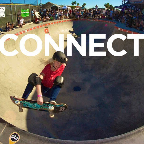 We connect with women skateboarders all over the world!