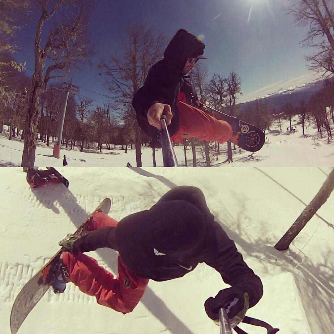 @farundio Facundo Huarriz playing at he's local snow park, testing his #renegade on the slushy snow. @thrivesnowboards  @komunidadsnow  #renegade