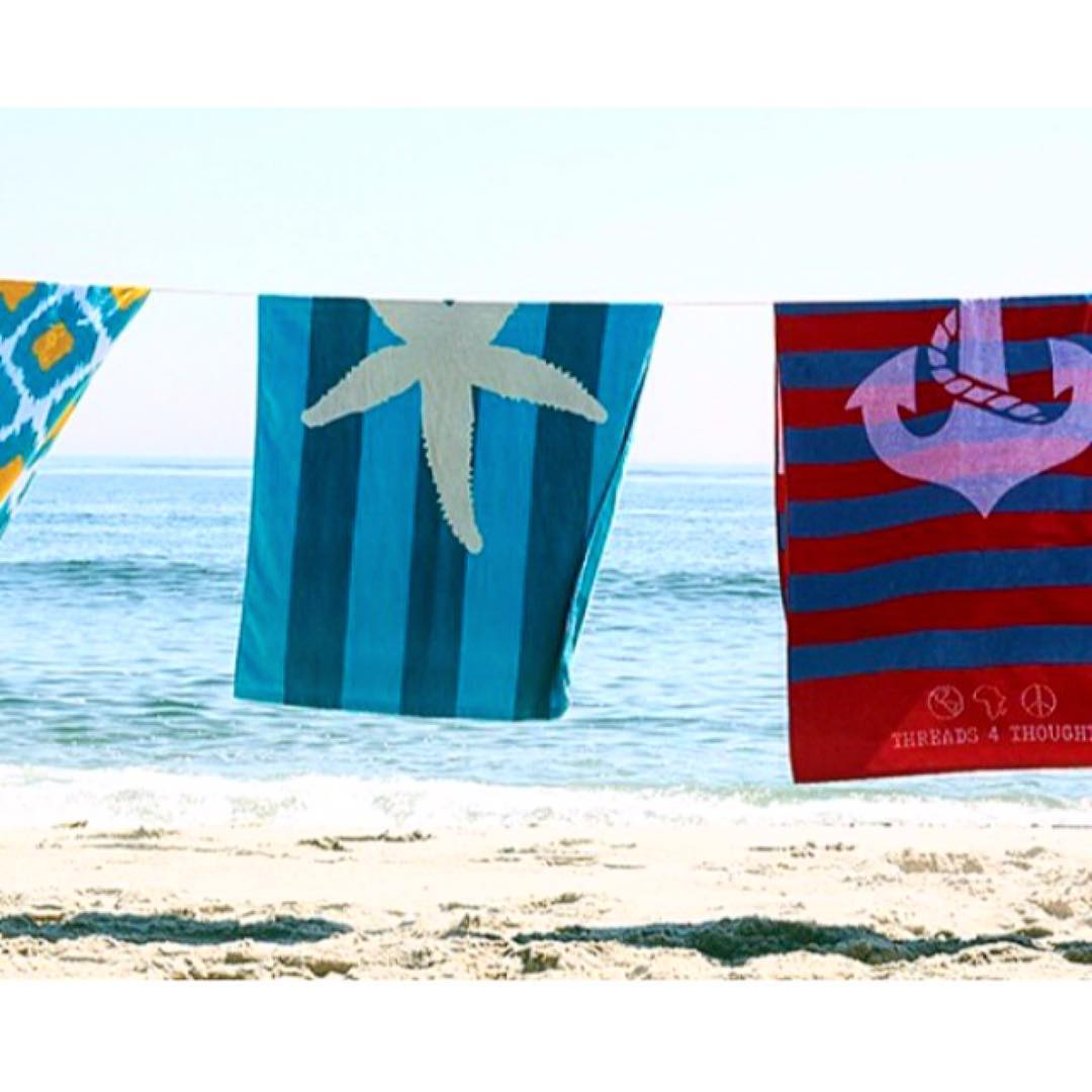 Not ready for #summer to end? Neither are we! We are heading to the #beach this weekend & bringing along our T4T beach towels. ☀️