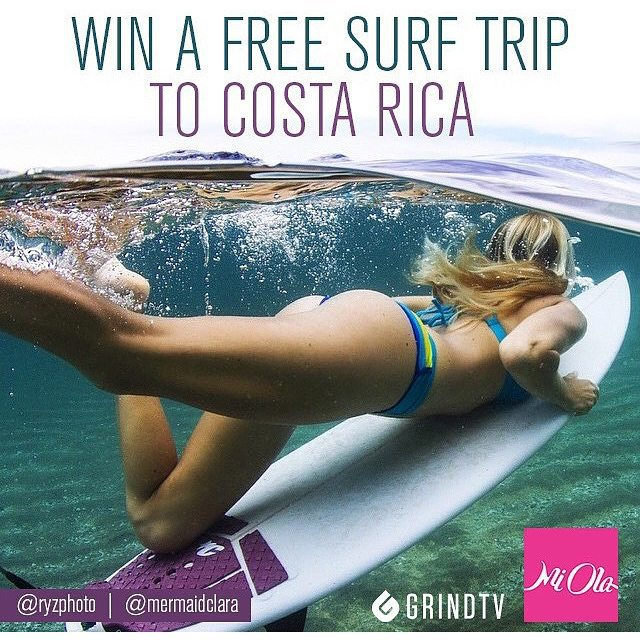 #miolagirls don't miss out! Today is the LAST DAY to enter our Next Stop Costa Rica Sweepstakes. Get all the details and #entertowin via our profile link. #getoutthere #surftrip #win #tgif