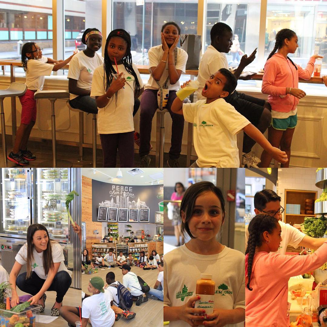 1%ftP nonprofit partner @harlemgrown took a visit to @juicegeneration last week! The kids enjoyed a day full of smoothie making, juicing and nutritional bingo. #giveback #juicing #nutrition