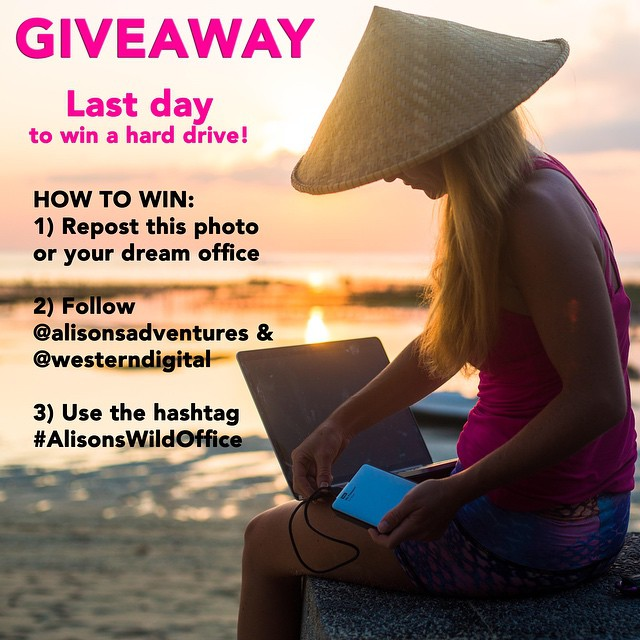 LAST DAY TO WIN A WESTERN DIGITAL HARD DRIVE as part of my week long wild office #giveaway