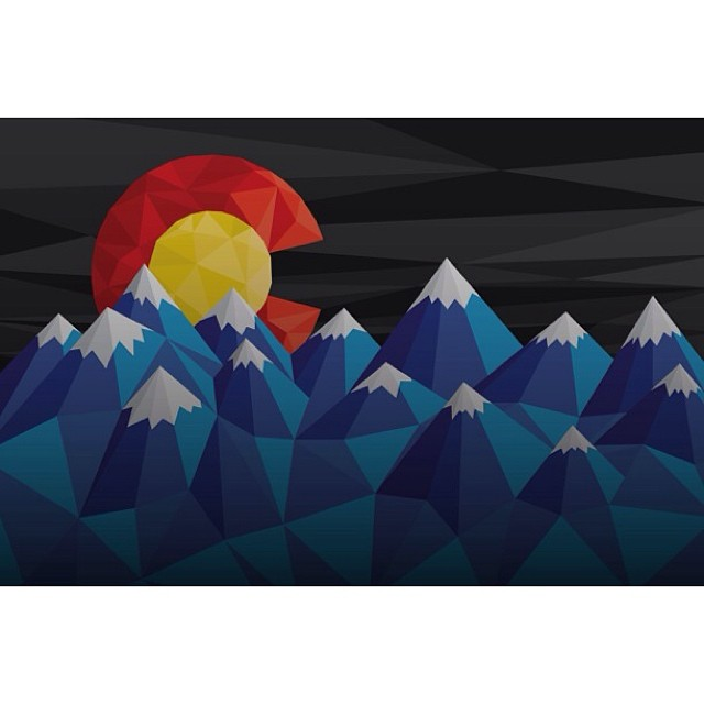 Limited Edition Polyrado Art Prints... Coming Soon!  Win a signed print by going to our Facebook page to LIKE, COMMENT, and SHARE this post.  #kinddesign #liveyourdream #colorado #co #rado #polyrado #mountains #art #print