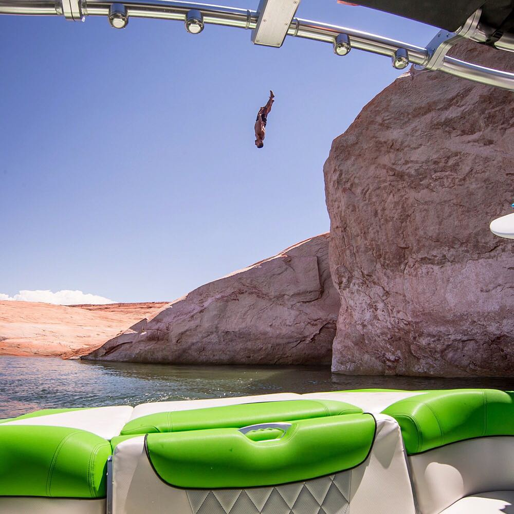 #FBF to flipping out at Lake Powell last summer. Looking forward to doing this again soon with my new intergalactic boat from @MCboatcompany. #summerrules #blockflip #MasterCraft2015