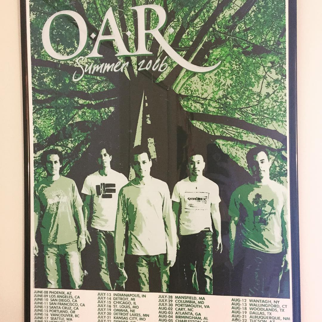 This was the best #concert ever 9 years ago. Can't wait to #see #oar again tonight #ifeelhome #blackrock #crazygameofpoker