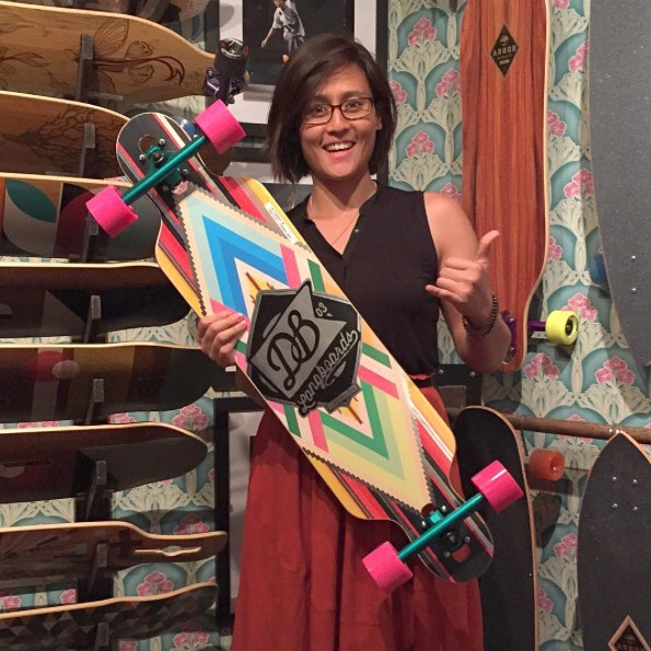 If you happen to be in New York City and are looking for a new longboard  @unclefunkysboards is where you need to go. Just look at this stoked customer with one of our Cabrakan cruisers! #longboard #longboarding #longboarder #dblongboards #goskate...
