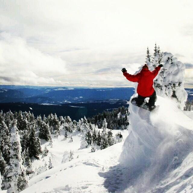 Snowboarding in Austria.