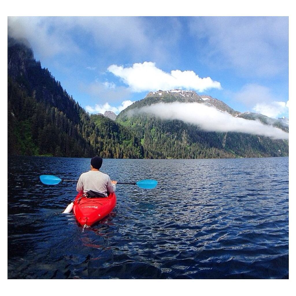"""We met Tai and Rainy, an amazing couple from Alaska, while free diving for abalone. The next day they took us up to Blue Lake, where we kayaked this desolate lake to the backside and up the end of the river. We set up camp for the night at the side of..."