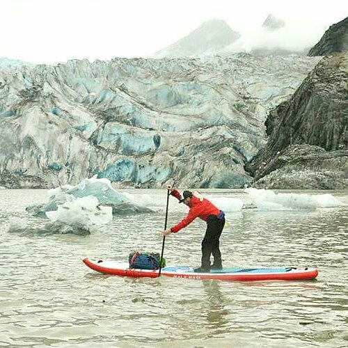 @suppaul_pics Warming up in Alaska with a paddle on the Mendenhall. #halagear #isup #paddleboarding #theweeklyinsta  #halanass14 #Alaska #explorermore #glacier #sup #standuppaddle #adventuredesigned #outdoor