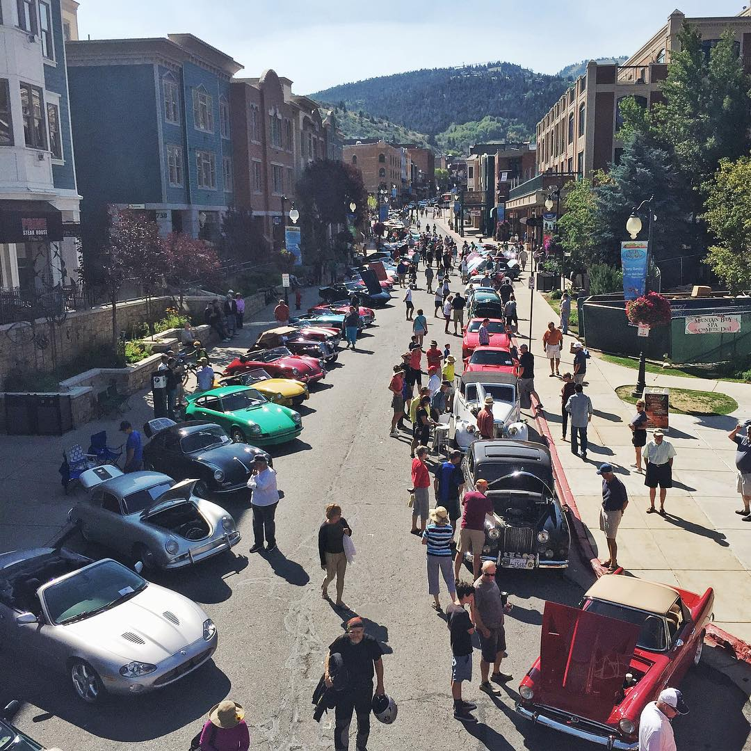 Classic/exotic car show this morning on Main Street here in my home town of Park City. Cool to see this stuff just a few minutes walk from my home. #ipreferracecars #streetdriven #ParkCity