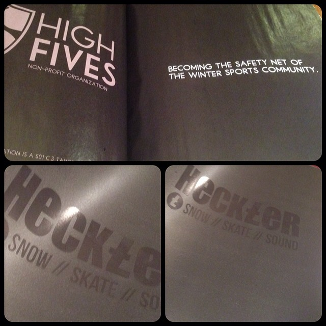 Check out the 20th Anniversary of @hecklermagazine | Congrats @broverlode on recreating this fantastic magazine and creating an ad for #highfivesfoundation