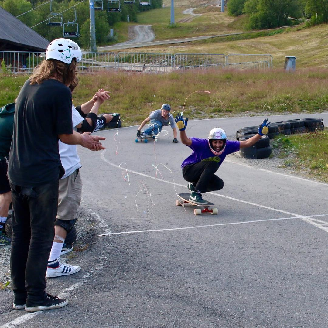 Congrats to team rider @ali_nas for winning what looks like a fun little race in Beitostølen, #Norway! He looks STOKED and that's what we love about Ali - he's always skating for fun!