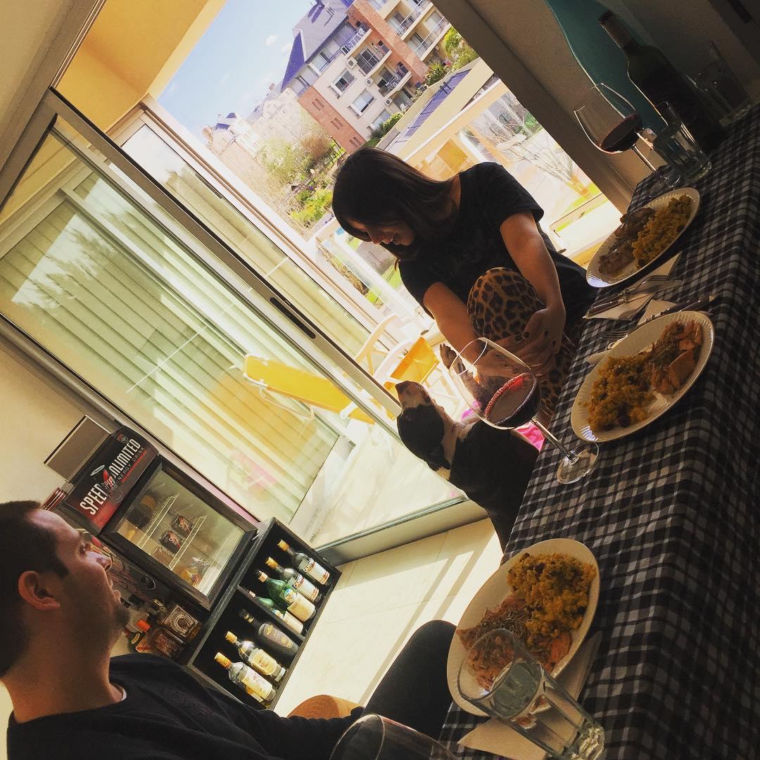 Hoy les cocino a mis amigos #trucha #muslitos #yamani #tinto