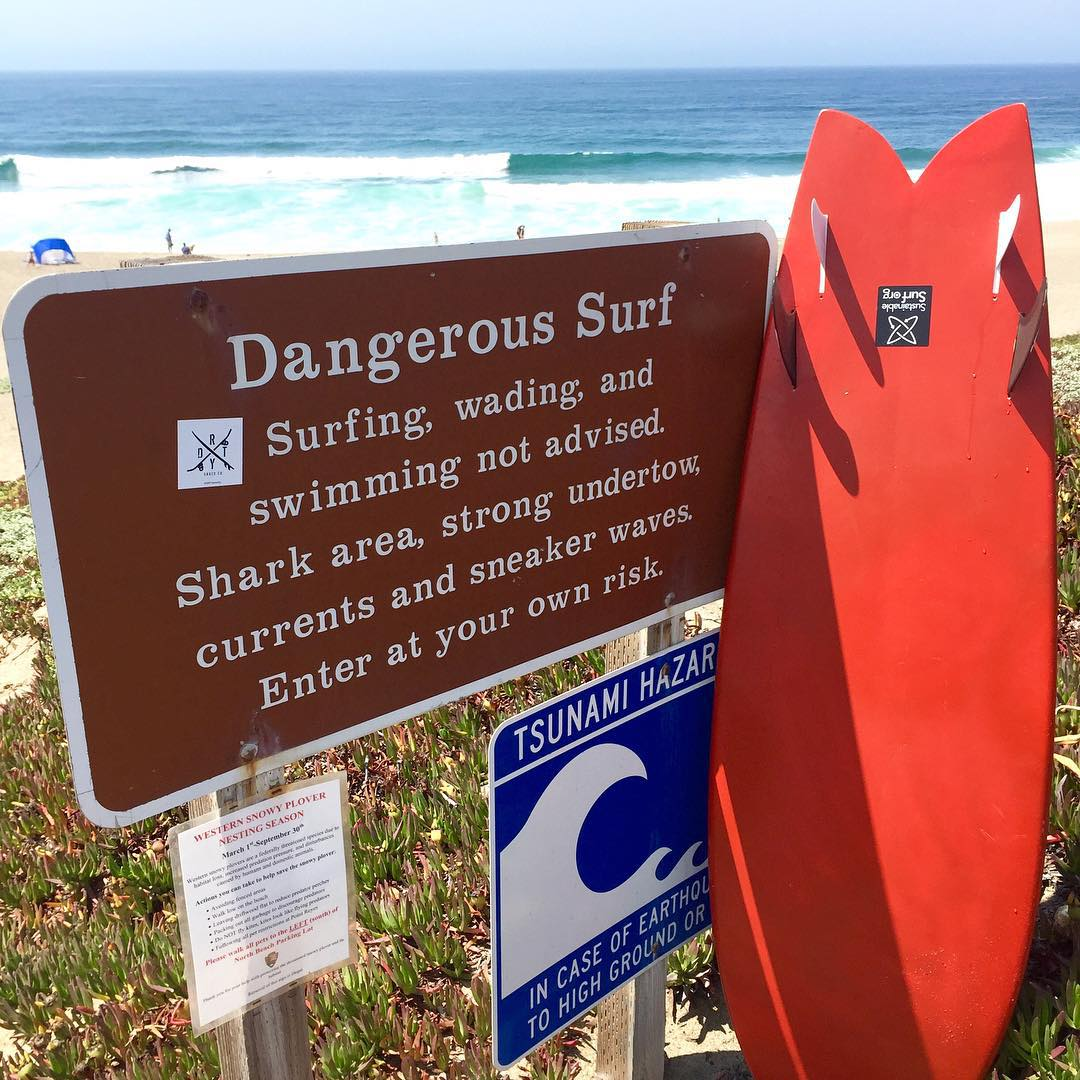 Sounds like our kinda spot...and a sure sign of a interesting surf session