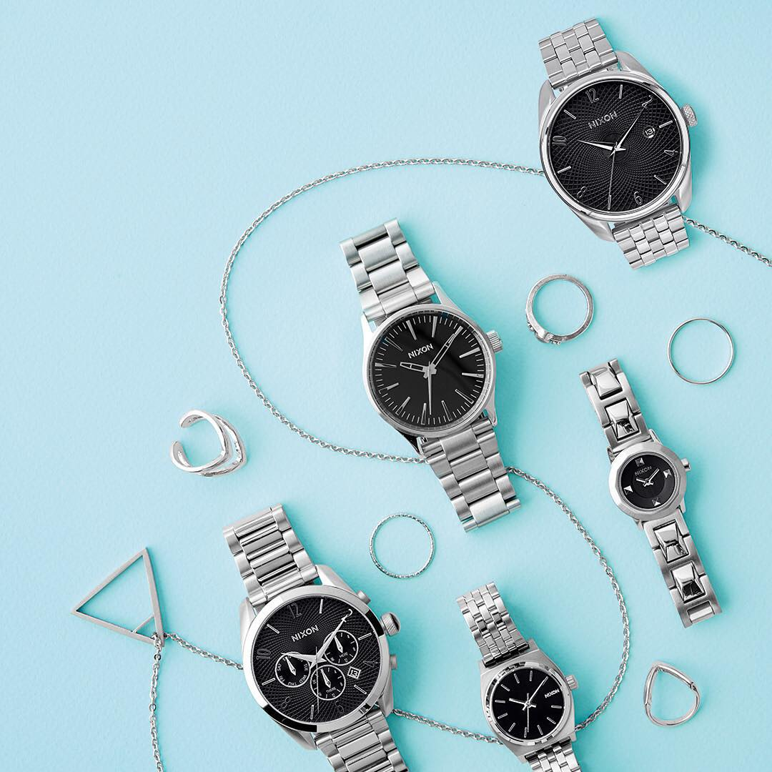 A modern dream of rich, glossy black and polished/matte stainless, the Liquid Metal Collection is a statement in simplicity for a look that's all luxury. #NixonNow