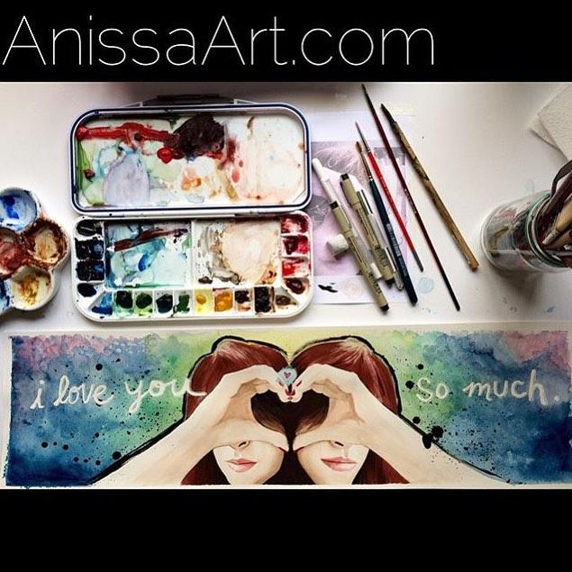 "@anissa_art • • ""I Love You So Much"" • • #atx #austintx #texas #tx #art #deepintheartoftexas #spratx"