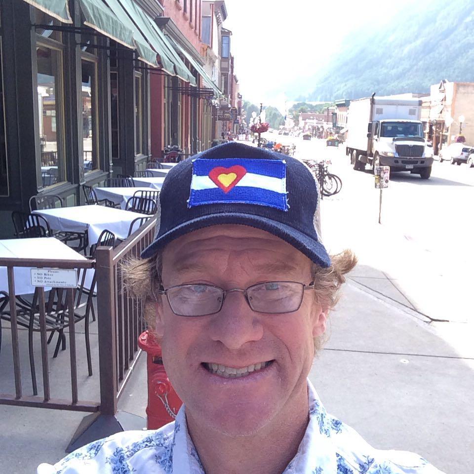 Buff won this #BigColoradoLove corduroy hat at last night's killer #telluridetheatre event.