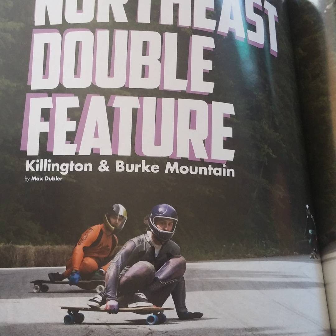 Have you seen the last issue of @skateslate?  Here is team rider @niko_dh chasing @dexmanning at the #downhillthrowdown @maxdubler photo.  #restlessboards #restlessnkd