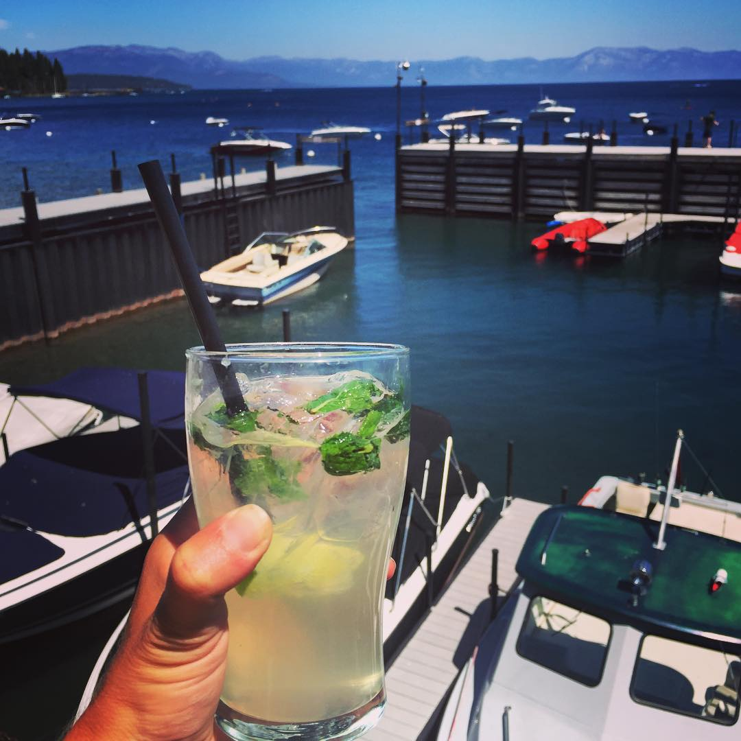 Closing out another awesome weekend in Tahoe with some boat drinks and new friends #laketahoe #tahoe #sundayfunday #mojito