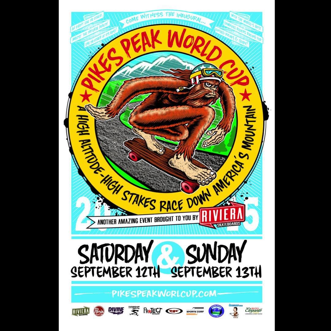 Pikes Peak World Cup is right around the corner! Registration is filling up, so get on it if your lagging. @skateriviera #pikespeakworldcup #onthewatchforthesquatch #idfracing #pikespeak #timeshipracing #paristruckco #divinewheelco #skateriviera