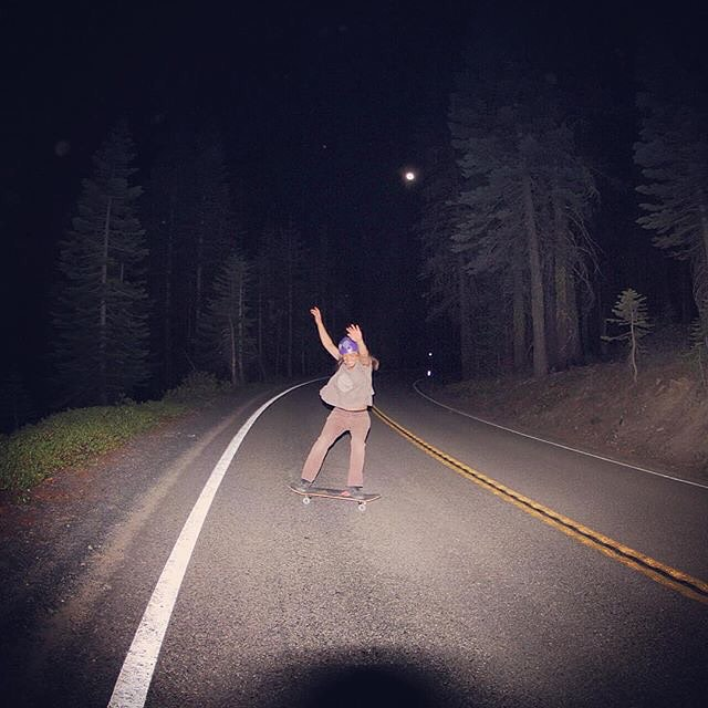 Team rider Yvonne Byers--@yvonzing skating under the moon light!