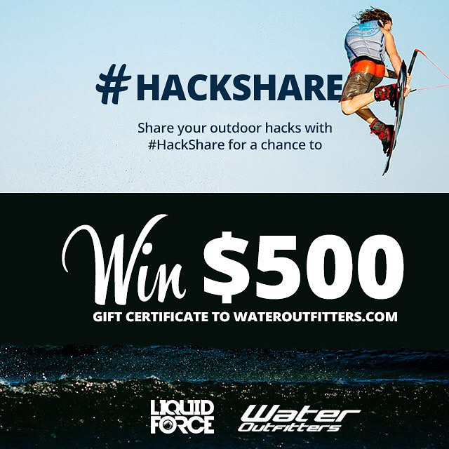 Challenge: Tag you best summer hacks with #hackshare for a change to win $500 from @wateroutfitters!!