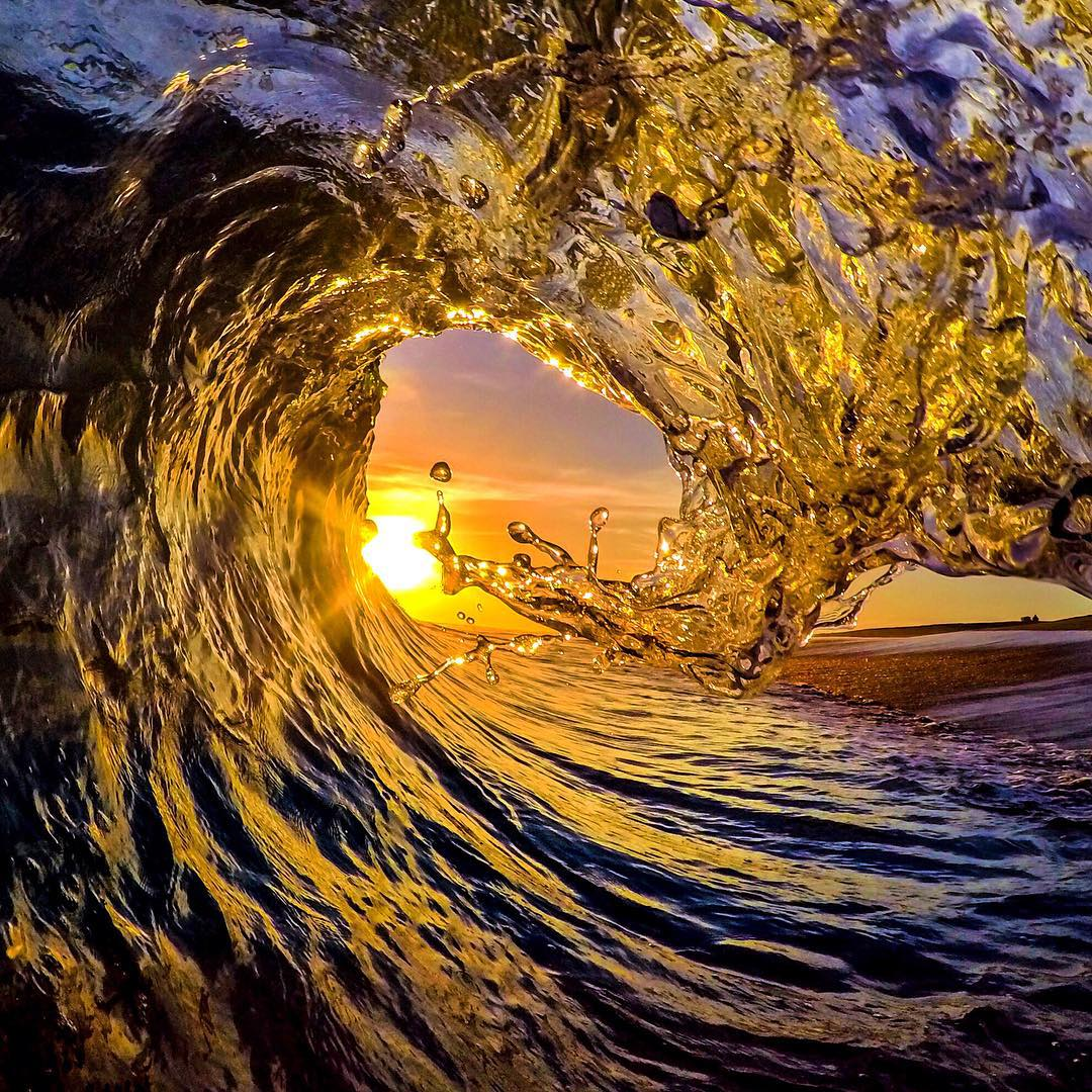 Sun Drops by @rickyshoots. GoPro HERO4 | GoPole Evo #gopro #hero4 #gopole #gopoleevo #shorebreak #rickyshoots
