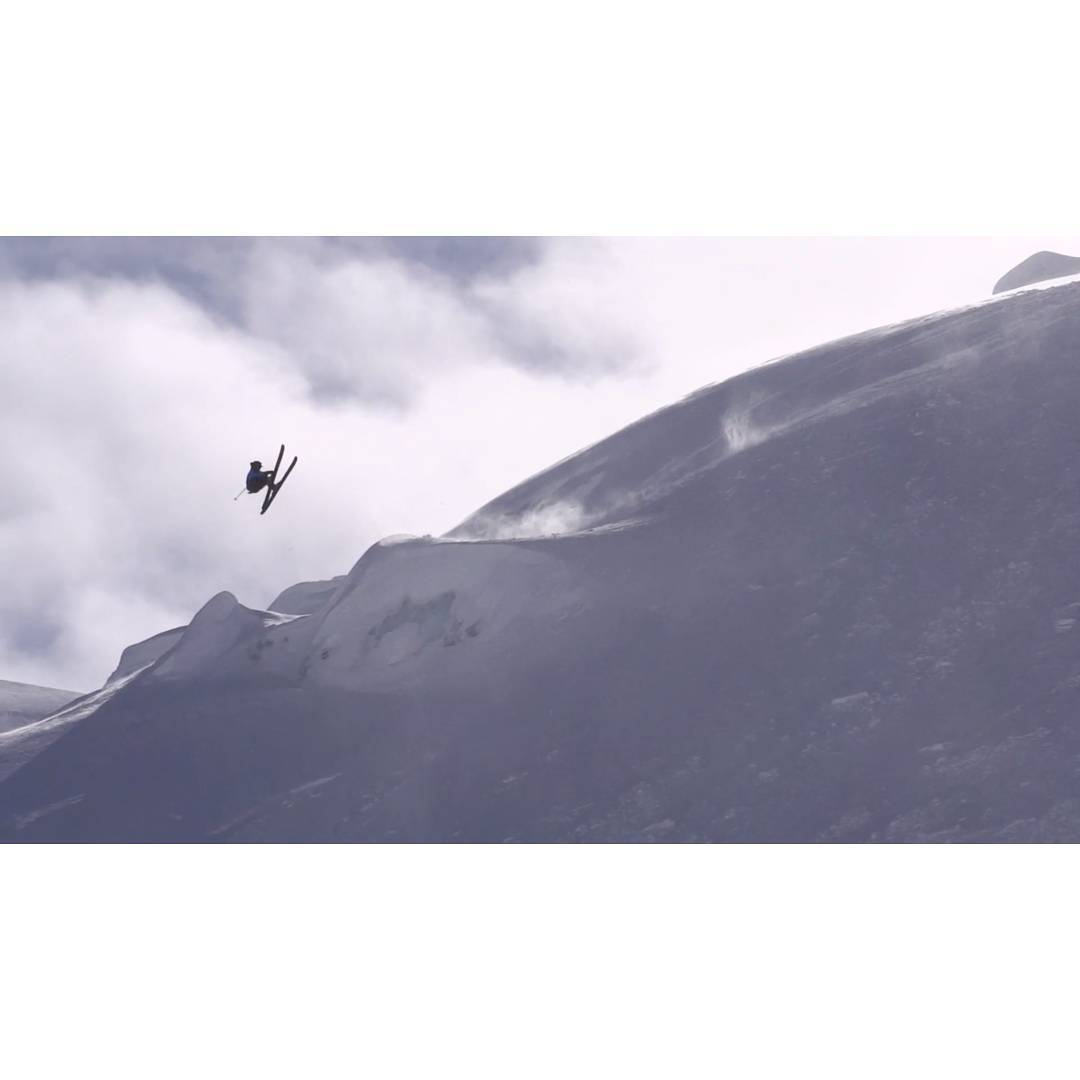 "Screen Grab of @kyepetersen in his new film ""In Search,"" a short film covering a skier seeking adventures into deep backcountry zones on skis and showcasing a fun and innovative approach to riding all aspects of the mountain. From ski-touring technical..."