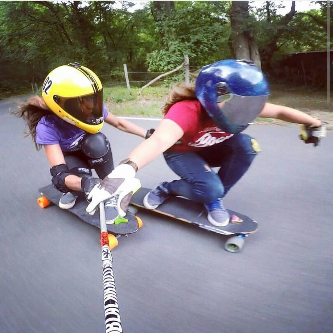 @lydebegue riding super close to her friend @skatebagels in France.  #restlessboards #restlessnkd