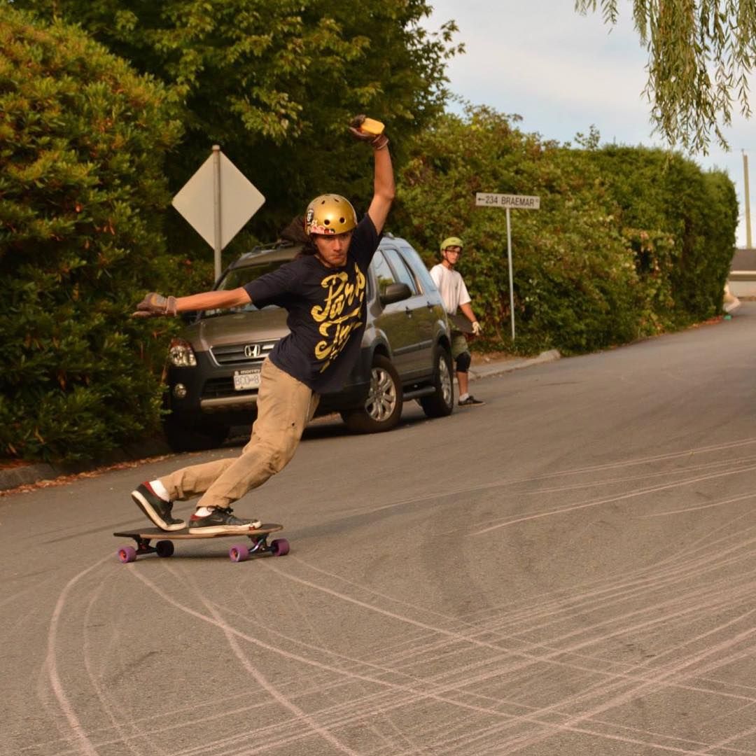 Team rider Shobae @sho_ouellette with that sick toeside style. Skating all day, everyday is all Sho knows how to do.