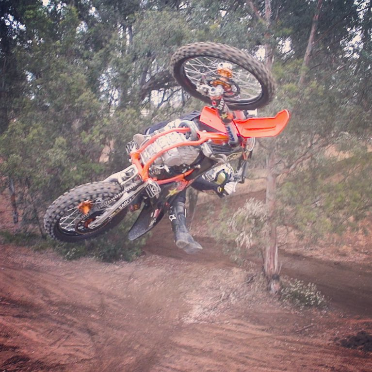 Getting under it at the compound off one of my favorite jumps