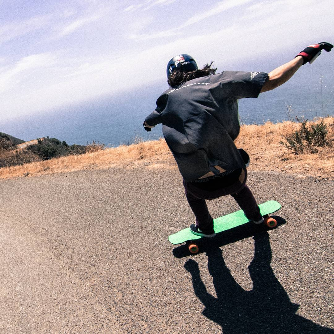 #OrangatangAmbassador @alex_colorito casting a big shadow on a big hill overlooking a big ocean.  Skate pics are usually quite literal. We like to try and point out the obvious that is happening.l in a photo.  But why is this?  Usually the people...