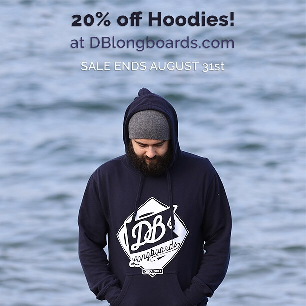 Snag a new hoodie for those fall and winter skate sessions and save 20% until August 31st!
