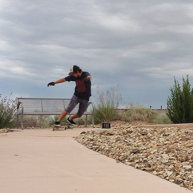 Just another day with his skateboard. James Tracey (@deadbear13) skates wherever he goes and makes it look fun, even on a sidewalk path. #divinewheelco #divinewheels