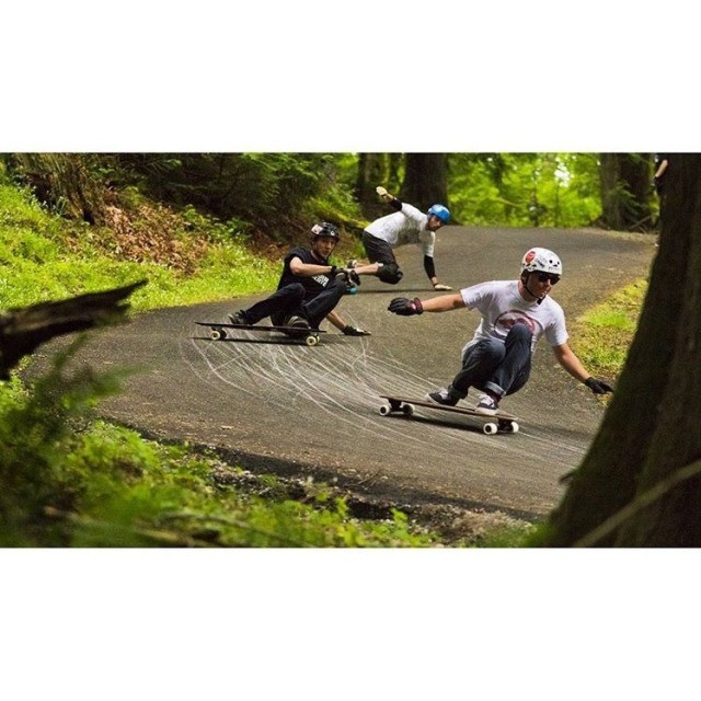 @liam_lbdr_ leading some homies down a sick little pathway in Seattle a while back. photo @honjuey #calibertrucks #caliberprecisions