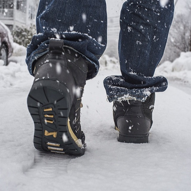 Taking the Hikers for a stroll down the street on yet another snow day in Boston. #Forsake #Hiker #snowday #longwinter