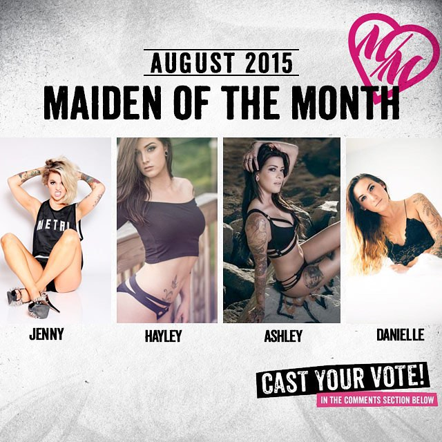 HERE WE GO! Time to help us choose this months #MetalMulishaMaiden