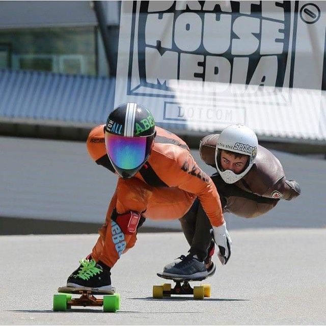 We're looking forward to the @whistlerlbfest coming up in September. Be sure to catch some of the #predatorteam racing. Here's a photo of @niko_dh with Matt K hot on his tail. Photo: @wipp1 #whistler #longboardfest #whistlerlbfest #2015