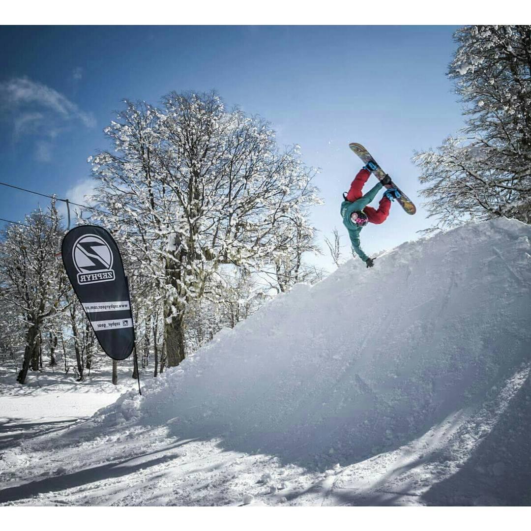 Que bien que esta el #Snowpark de @cerro_chapelco !!