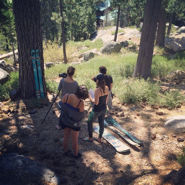A behind the scenes shot of the coalition team filming gear videos; stay tuned for these little diddies coming this fall! Big thanks to @nastasha_d for her time and specialties filming! #sisterhoodofshred #freshgear #firedupforwinter