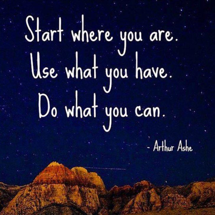 Monday motivation by Arthur Ashe