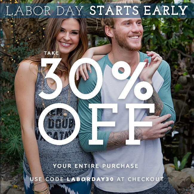 #SURPRISE! Labor Day is starting early at Threads 4 Thought! Take 30% off your entire purchase starting today. Use code LABORDAY30 at checkout— link in profile. #laborday #sale #shop #fashion #sustainable