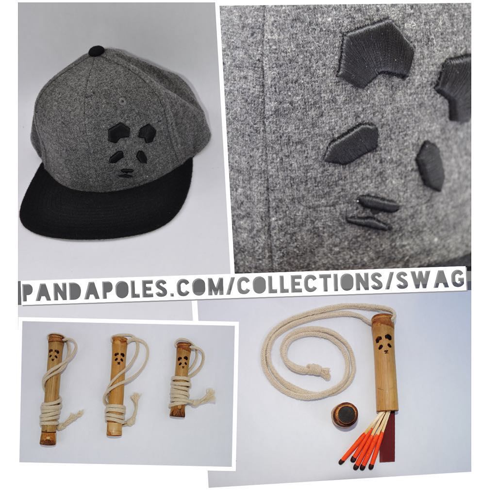 New SWAG on our website!  Feel the magic in our premium quality Panda Face Wool Flat Brim, and stay safe with an up-cycled bamboo Safety Tube, available only at: PandaPoles.com/collections/swag!  Promo code PANDA FANATIC = 20% OFF!  Photos: @mophofomo...