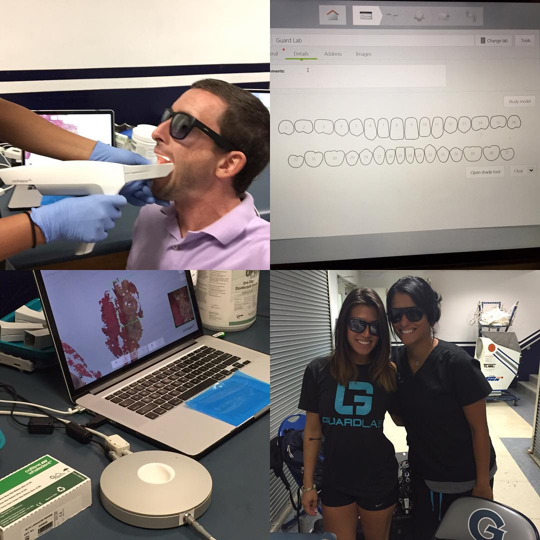 Eye protection = #waveborn Mouth protection = #guardlab Just got scanned for a custom #mouthguard #3dprinter