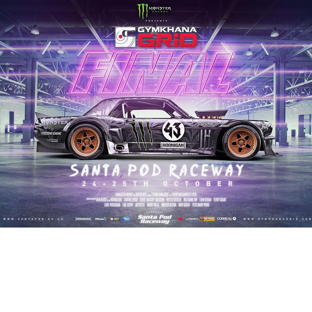 The @GymkhanaGRID European Gauntlet final (which I'll be racing in my Ford Mustang Hoonicorn RTR) is coming back to Santa Pod Raceway in the UK! Unfortunately, the GRID organizers were forced to move locations from the original venue in Greece because...