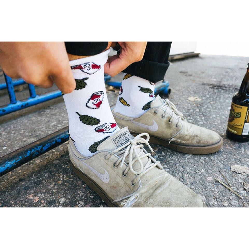 Our new Beer socks are made in Colorado and have moisture wicking properties that make them great for hiking or biking and the inevitable beer drinking that follows. Give 'em a try