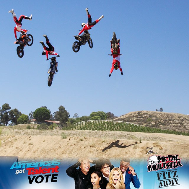The @metalmulisha is going to appear on 'America's Got Talent' tonight!  Check 'em out at 8 pm ET on NBC.